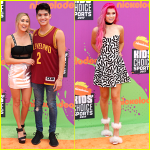 Social Stars LaurDIY, Alex Wasabi & Jessie Paege Bring Some Fun To Kids' Choice Sports Awards 2017