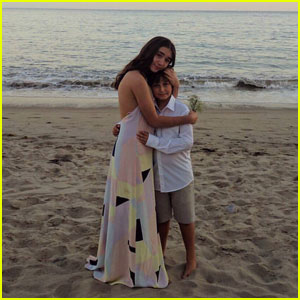 Rowan Blanchard & August Maturo Reunite in Cute Beach Photo