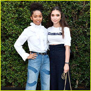 Rowan Blanchard Wears Four Different Eye Shadows At Once For Chanel Dinner With Yara Shahidi