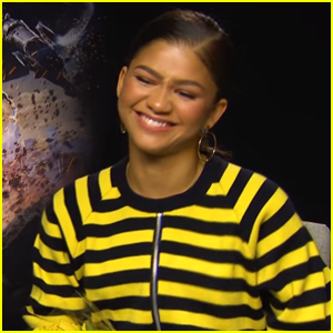 Zendaya Gets Flowers From Mini Spider-Man During Interview (Video)