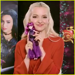 Dove Cameron Sees Her 'Descendants 2' Mal Cotillion Doll for the First Time (Video)