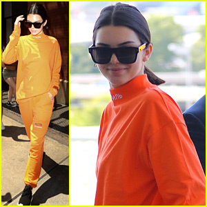 Kendall Jenner Proves That Orange IS the New Black!