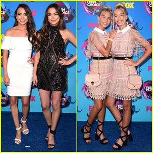 Twins Unite! Vanessa & Veronica Merrell and Lisa & Lena Hit Teen Choice Awards 2017