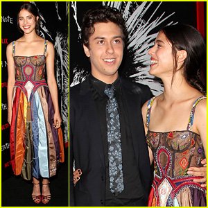 Nat Wolff Suits Up for 'Death Note' NYC Screening with Margaret Qualley!