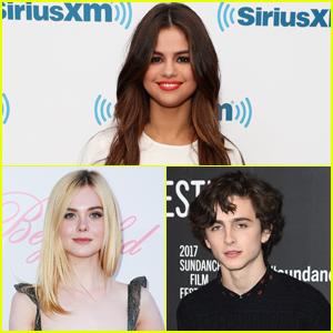 Selena Gomez Gives a Shoutout to Her Future Co-Stars Elle Fanning & Timothée Chalamet!