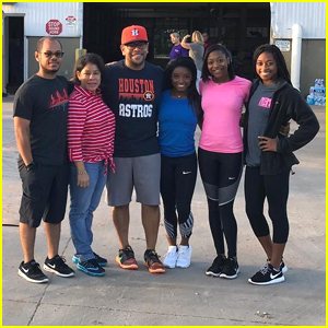 Simone Biles & Her Family Give Back To Houston By Volunteering at a Hurricane Harvey Relief Shelter