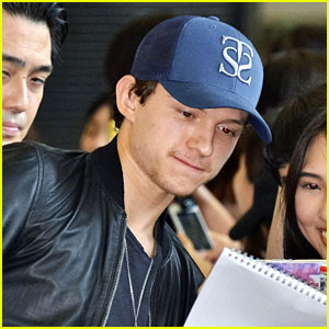 Tom Holland Makes Time For Fans After Arriving in Tokyo