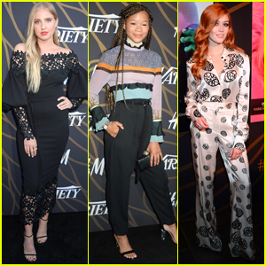 Veronica Dunne Stuns in LBD at Variety's Power of Youth with Katherine McNamara & Storm Reid