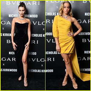 Bella Hadid & Jasmine Sanders Go Glam for Bvlgari Party