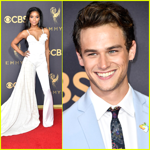 '13 Reasons Why' Stars Ajiona Alexus & Brandon Flynn Hit Emmy Awards 2017 Together
