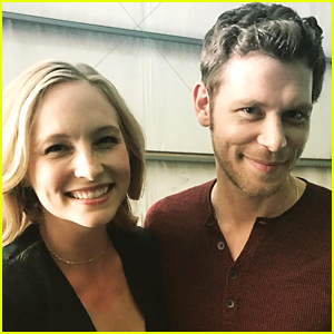 Candice King Shares Klaroline Pic With Joseph Morgan on 'Originals' Set