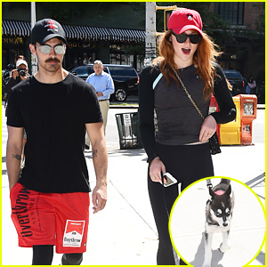 Joe Jonas, Sophie Turner, & Their Dog Are a Picture-Perfect Family