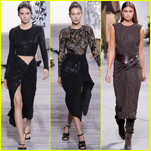 Kendall Jenner, Bella Hadid & Taylor Hill Strut in the Michael Kors NYFW Show