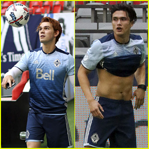 KJ Apa & Charles Melton Play in Children's Hospital Charity Soccer Match