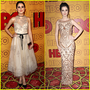 Laura & Vanessa Marano Glam Up in Gold For HBO's Emmys 2017 Party