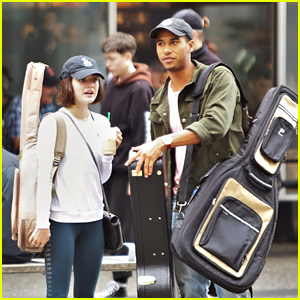 Lucy Hale & Elliot Knight Try Out Their Own Carpool Karaoke in Vancouver