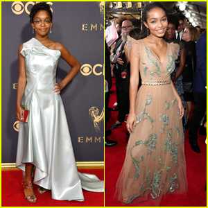 Black-ish's Yara Shahidi & Marsai Martin Shine at Emmy Awards 2017
