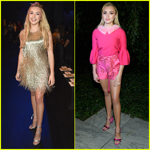 Peyton List Is a Golden Girl at Naeem Khan's Fashion Show During NYFW