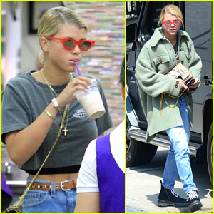 Sofia Richie Spends the Afternoon Getting Her Nails Done