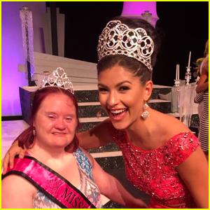 Miss Teen USA Sophia Dominguez-Heithoff Meets Missouri�s Miss Amazing Sr Stephanee Corcoran! (Exclusive)