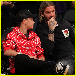 Romeo Beckham Hangs Out With His Dad David Beckham at the Lakers Game!