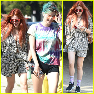 Bella Thorne Goes On Sunday Hike With Sister Dani & Friends