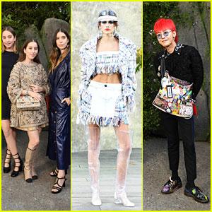 HAIM, Kaia Gerber & G-Dragon Look Stylish at Chanel Show During Paris Fashion Week!
