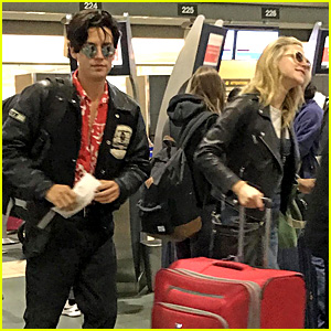 Lili Reinhart & Cole Sprouse Catch a Flight Together