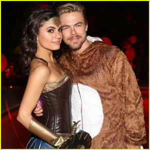 Derek Hough Couples Up With Hayley Erbert at Just Jared Halloween Party!