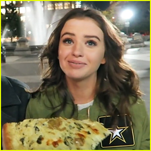 Jess Conte Tries Authentic NYC Pizza for the First Time Ever (Video)