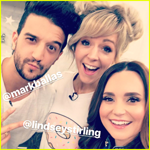 Rosanna Pansino Makes DWTS Mirror Ball Cake with Lindsey Stirling & Mark Ballas (Video)