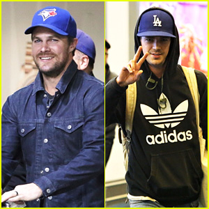 Stephen Amell & Grant Gustin Travel to Vancouver to Continue Shooting Their Shows!