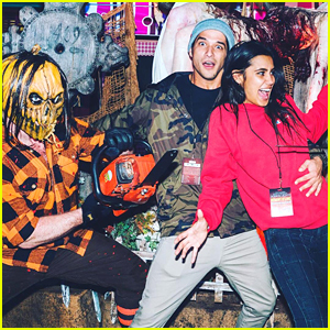 Tyler Posey & Rumored Girlfriend Sophia Taylor Ali Hit Universal Hollywood's Horror Nights Together