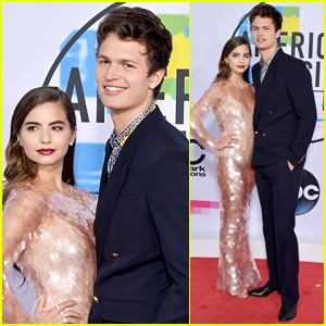 Ansel Elgort & Violetta Komyshan Are Couples Goals at AMAs 2017!