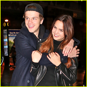 Bailee Madison & Alex Lange Have Date Night Out at Toronto Raptors Game