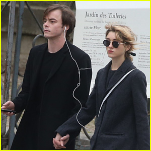'Stranger Things' Stars Charlie Heaton & Natalia Dyer Explore Paris Together