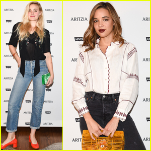 AJ Michalka & Georgie Flores Get Chic at Aritzia x Levi's Launch Party!