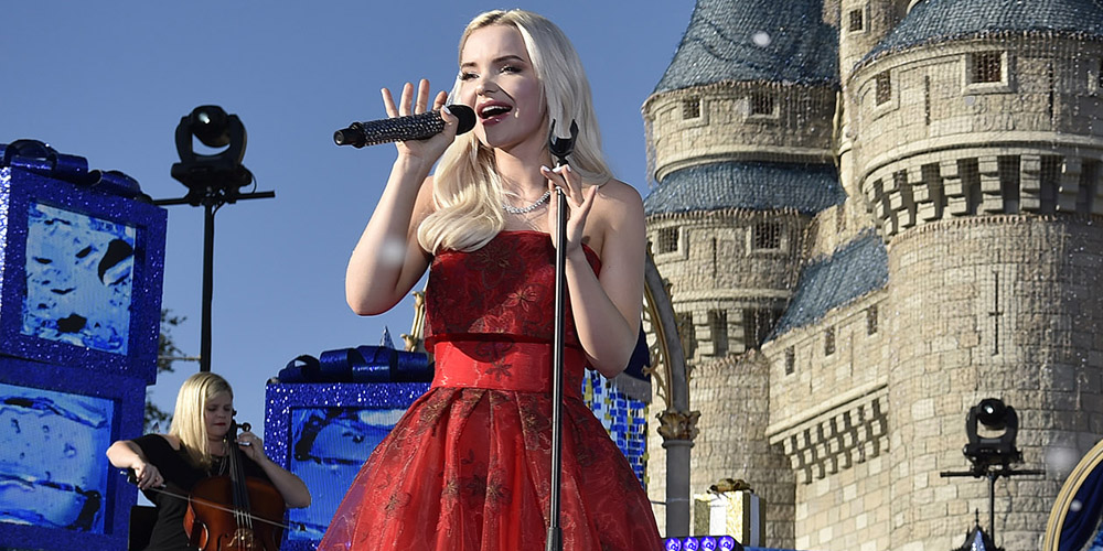 201374c4908 Dove Cameron Reigns in Red Dress For Disney Channel Holiday Celebration    8211  First Look!