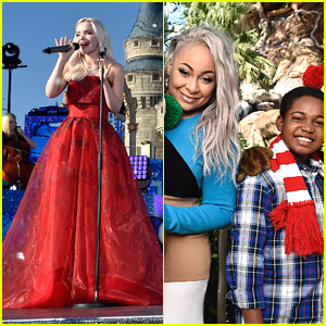 Dove Cameron Reigns in Red Dress For Disney Channel Holiday Celebration - First Look!
