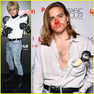 Dylan Sprouse Channels Fabio For His Second Halloween Costume