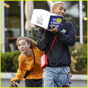 Jaden Smith & Girlfriend Odessa Adlon Have Fun With the Cameras!