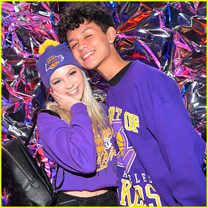 Jordyn Jones & Boyfriend Brandon Westenberg Show Lakers Pride at Call It Spring Event