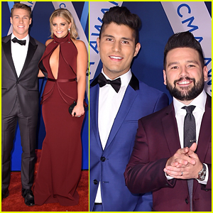 Lauren Alaina & Dan + Shay Rock Bold Colors at CMA Awards 2017