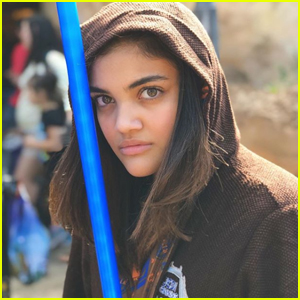 Laurie Hernandez Channels Her Inner 'Star Wars' Jedi at Disney World
