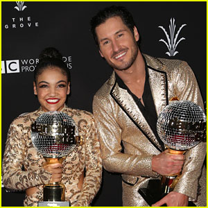 Laurie Hernandez & Val Chmerkovskiy Look Back On When She Hit 'DWTS' Camera Guy with Hat