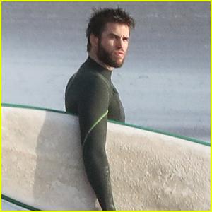 Liam Hemsworth Catches Some Waves in Malibu!