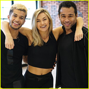 Lindsay Arnold Dishes On Rehearsals With Corbin Bleu & Jordan Fisher For Tonight's DWTS Trio Dance (Exclusive)
