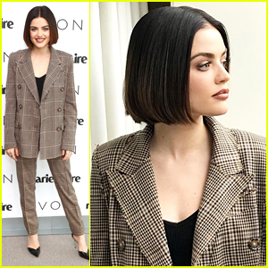 Lucy Hale Makes Short & Sweet Trip to NYC For Avon's Beauty Boss Panel