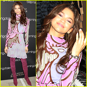 Zendaya Helps NYC Get Into the Holiday Spirit!