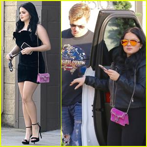 Ariel Winter Looks Glam Leaving a Studio with Boyfriend Levi Meaden!